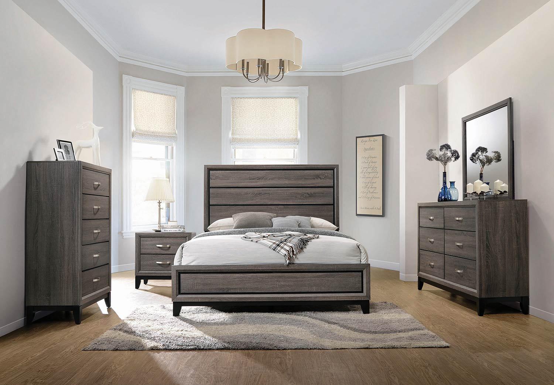 Coaster Watson Bedroom Set - Grey Oak/Black