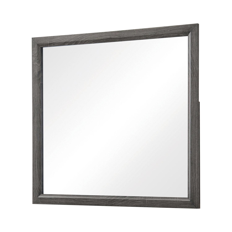 Coaster Watson Mirror - Grey Oak/Black