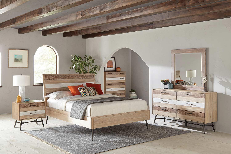 Coaster Marlow Bedroom Set - Rough Sawn Multi/Black Finish