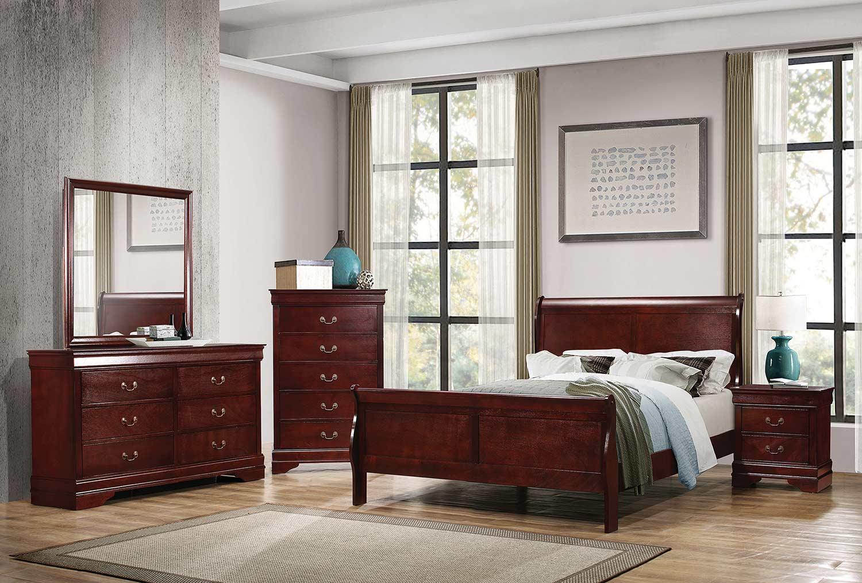Coaster Louis Philippe Bedroom Set - Cherry