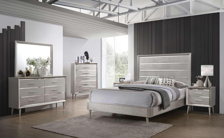 Coaster Ramon Bedroom Set - Metallic Sterling