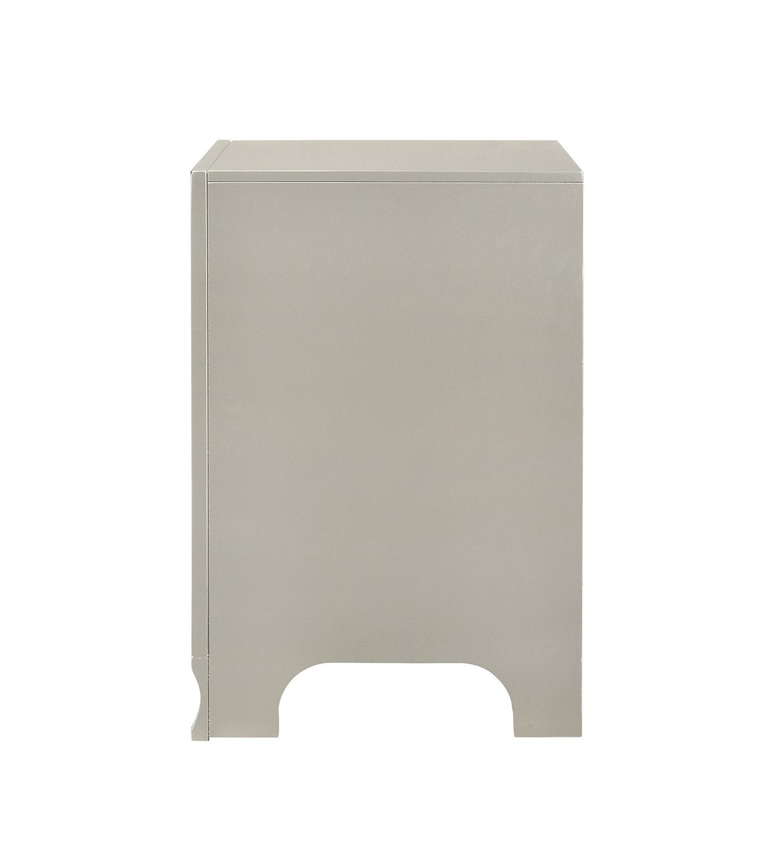 Coaster Salford Nightstand - Metallic Sterling