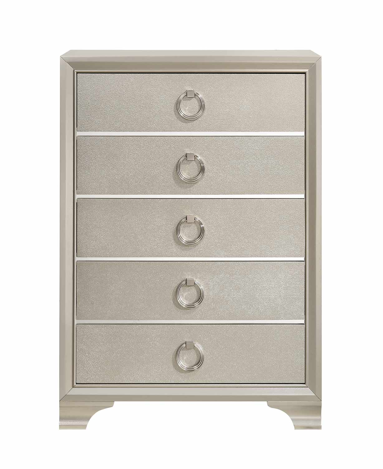 Coaster Salford Chest - Metallic Sterling
