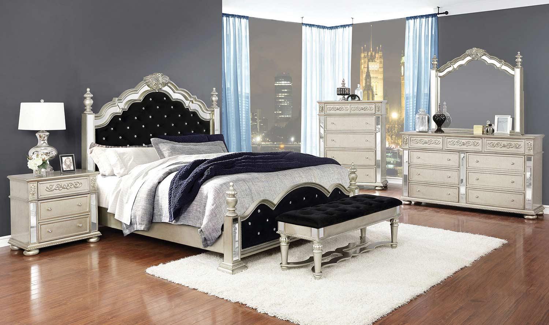 Coaster Heidi Bedroom Set - Metallic Platinum