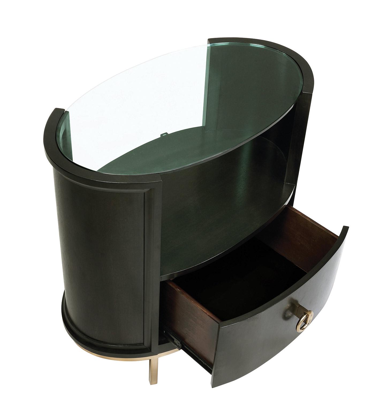 Coaster Formosa Oval Nightstand - Americano