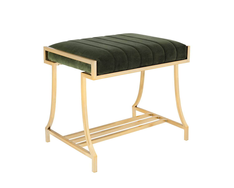 Coaster Formosa Vanity Bench - Americano/Dark Moss