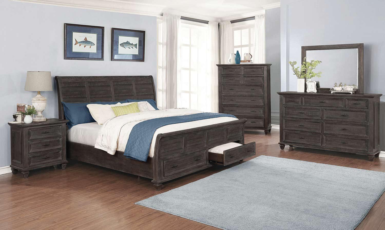 Coaster Atascadero Bedroom Set - Weathered Carbon