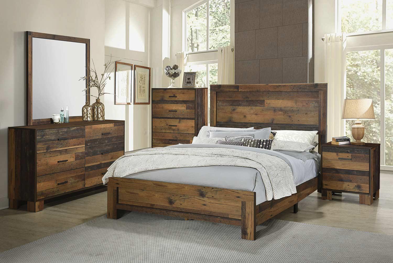 Coaster Sidney Bedroom Set - Rustic Pine