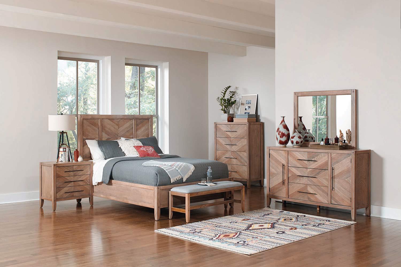 Coaster Tawny Bedroom Set - White Washed Natural
