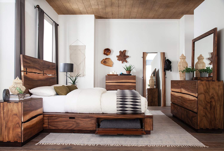 Coaster Winslow Storage Bedroom Set - Smokey Walnut/Coffee Bean