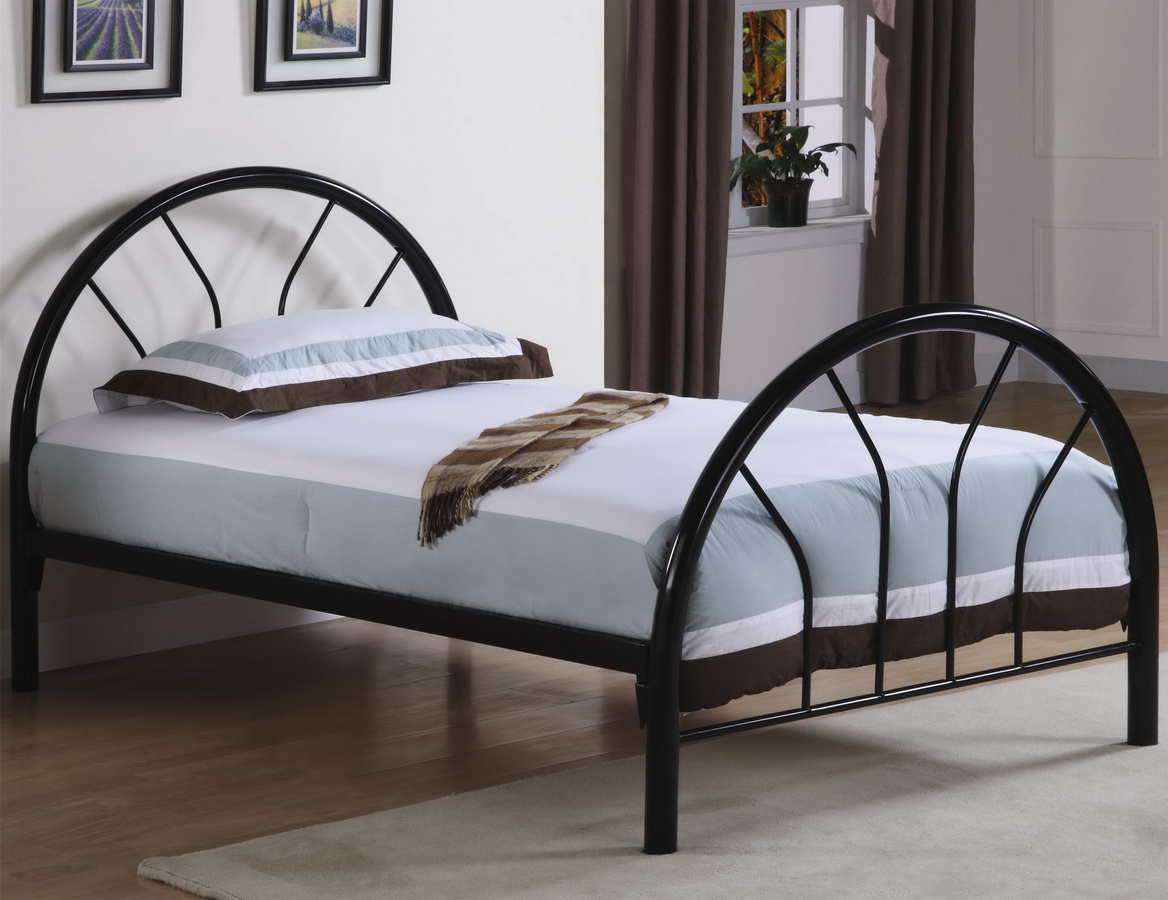 Coaster 2389B Twin Metal Bed - Black