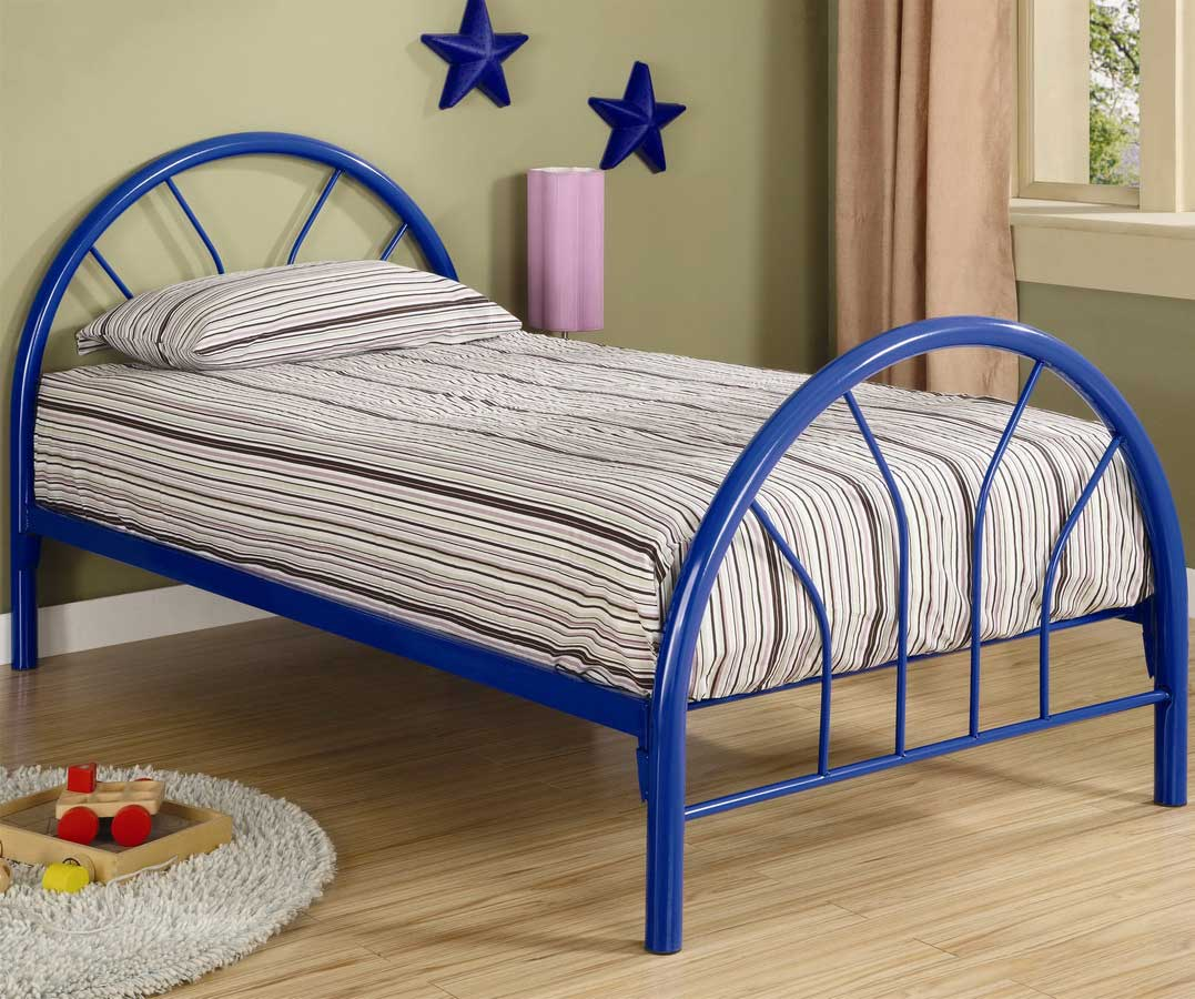 Coaster 2389N Twin Metal Bed - Blue