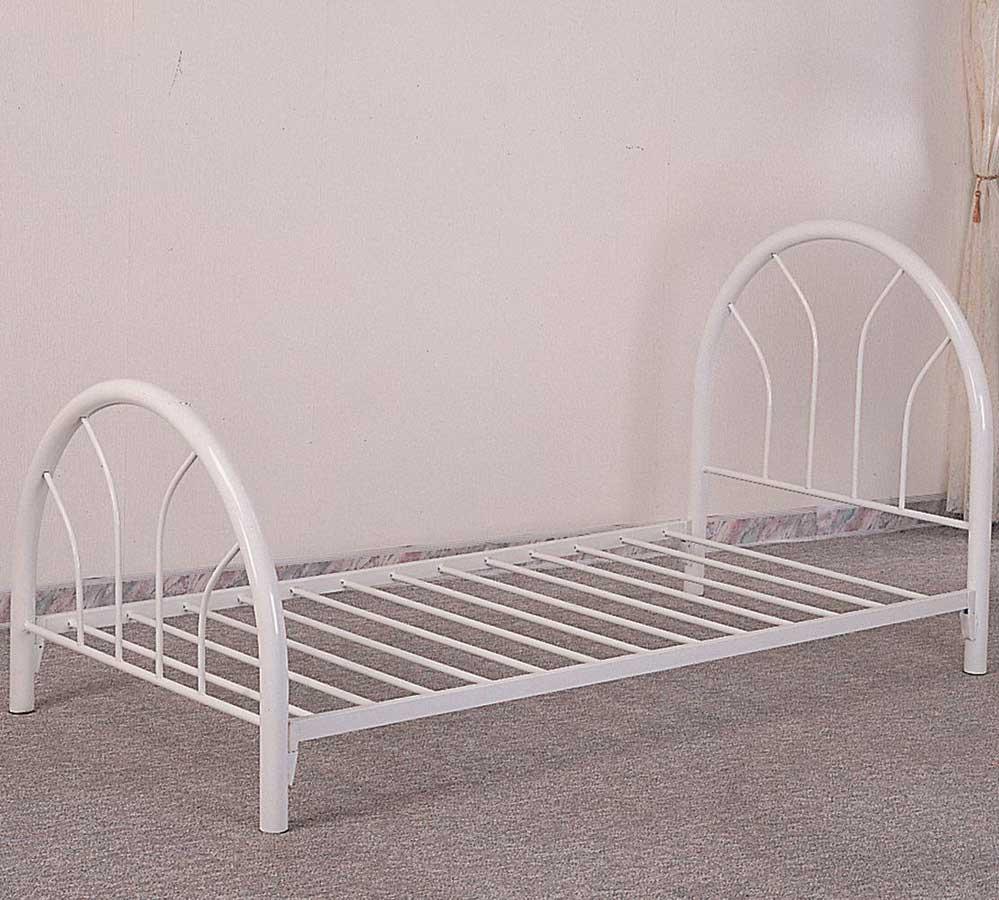 Coaster 2389W Twin Metal Bed - White