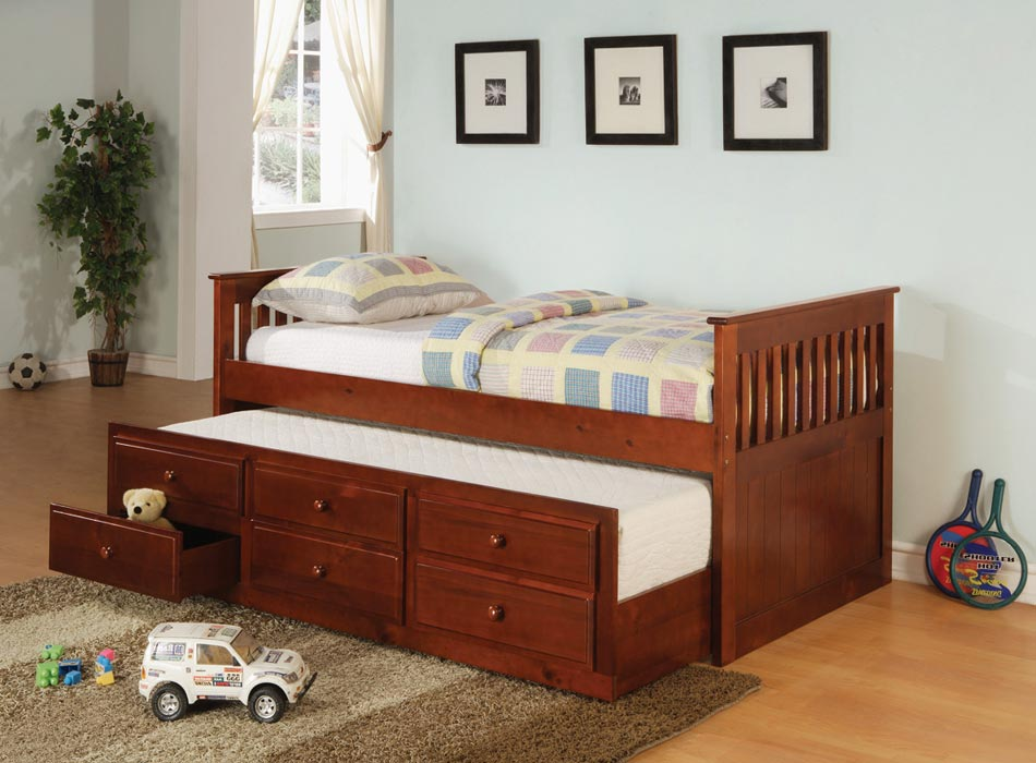 Coaster La Salle Daybed with Trundle - Cherry