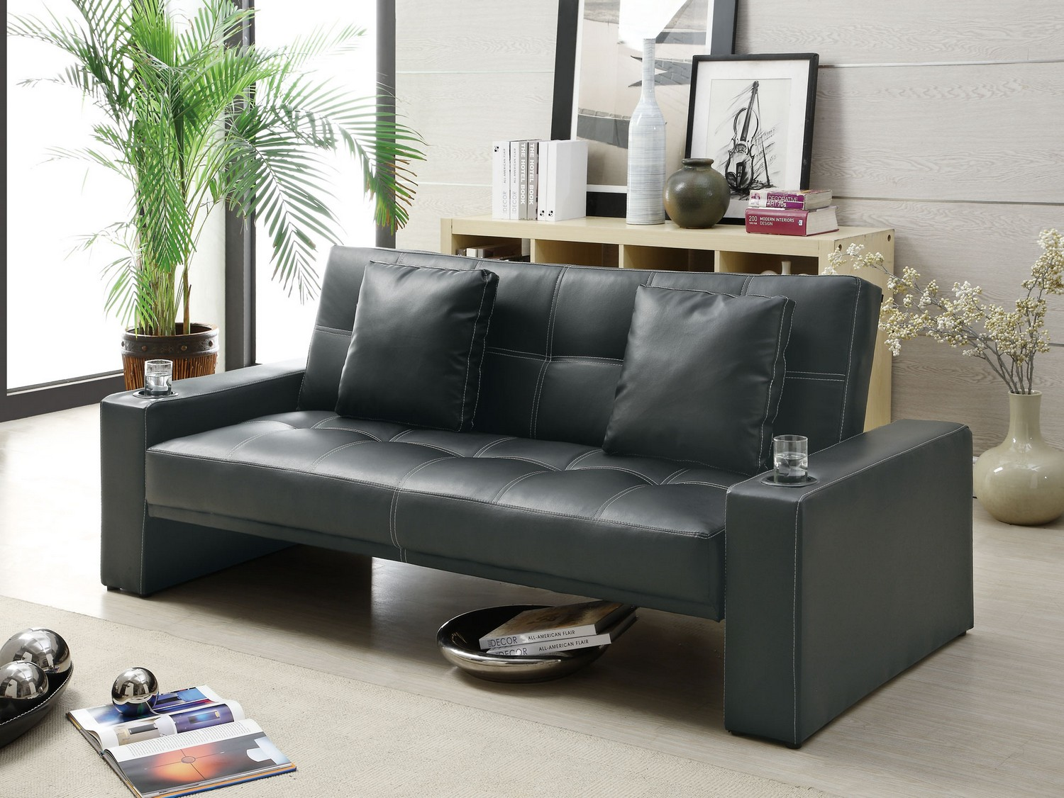 Coaster 300125 Sofa Bed - Black
