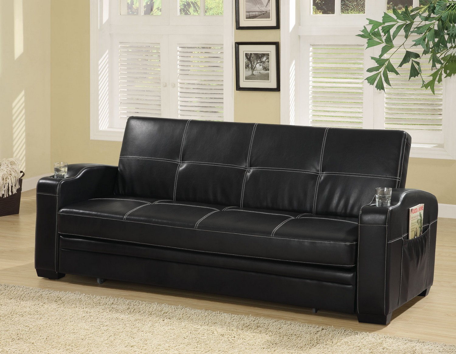 Coaster 300132 Sofa Bed - Black