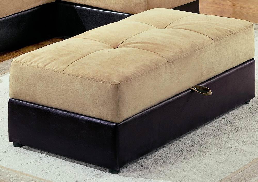 coaster kuser storage ottoman tan 300169