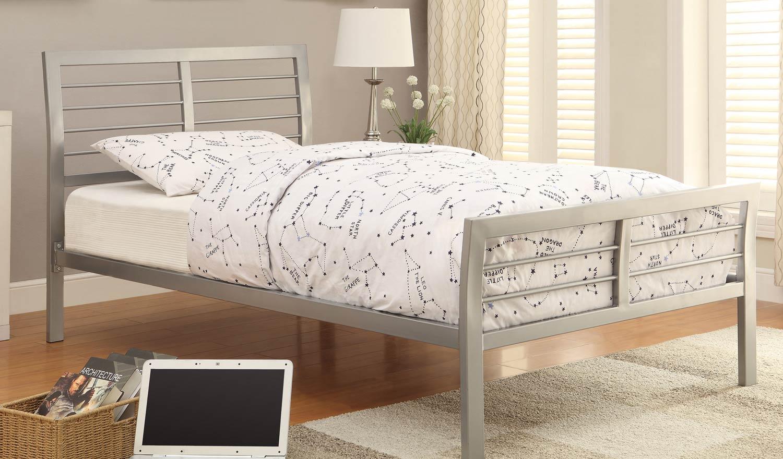 Coaster 300201 Queen Bed - Silver
