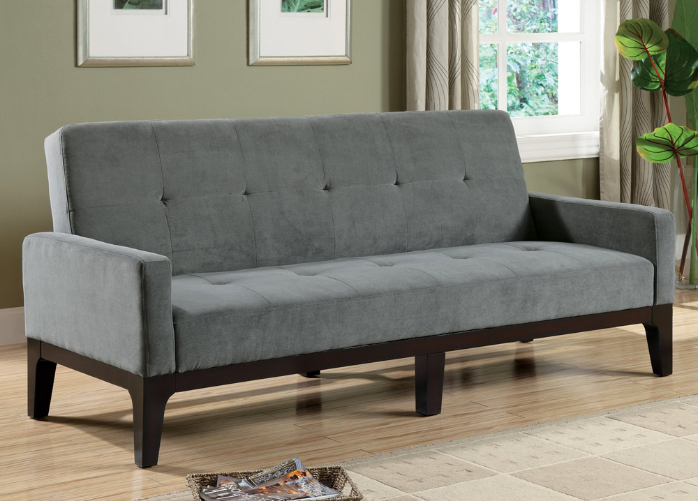 Coaster 300229 sofa bed blue gray 300229 at for Blue grey couch