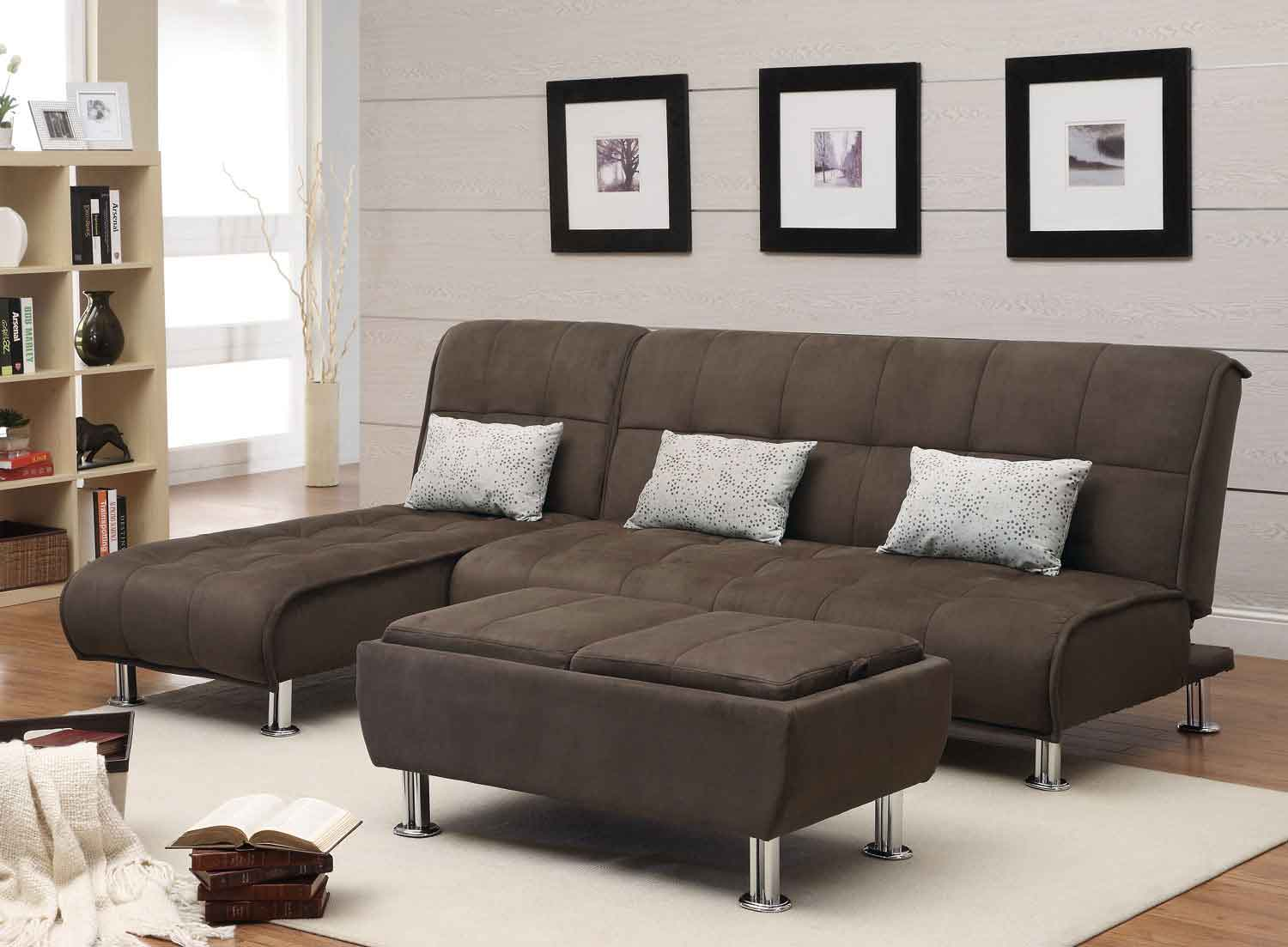 Coaster 300276 Sofa Bed Set - Brown