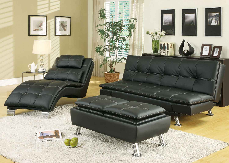 Coaster 300281 Sofa Bed Set - Black