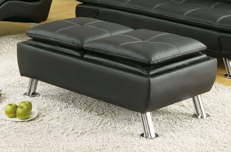 Coaster 300281 Ottoman - Black