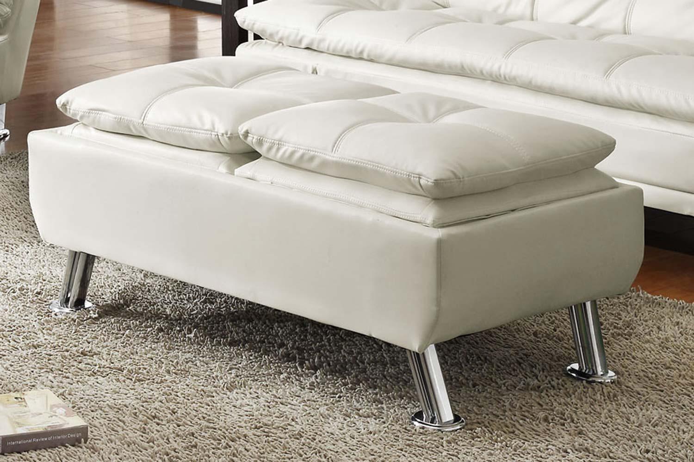 Coaster Dilleston Ottoman - White