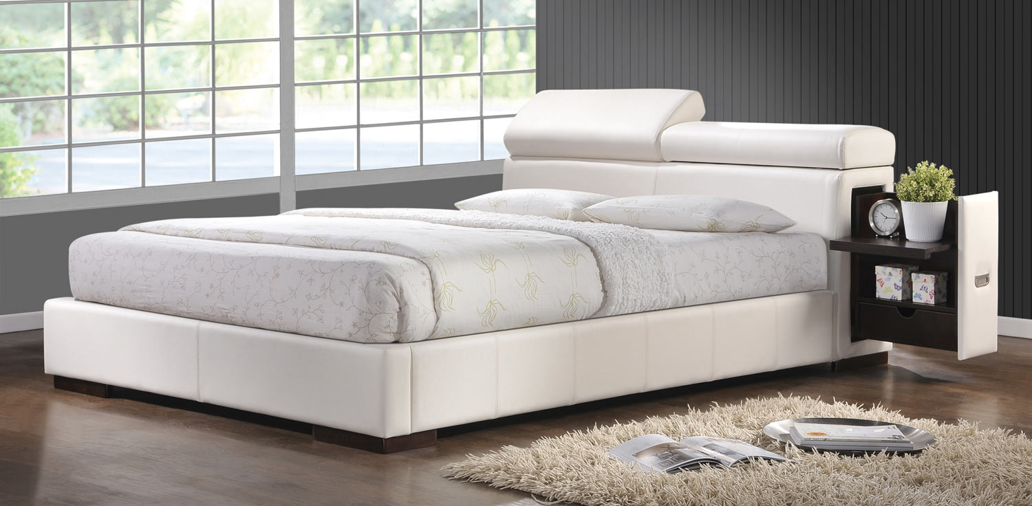 Coaster Maxine Platform Bed - White