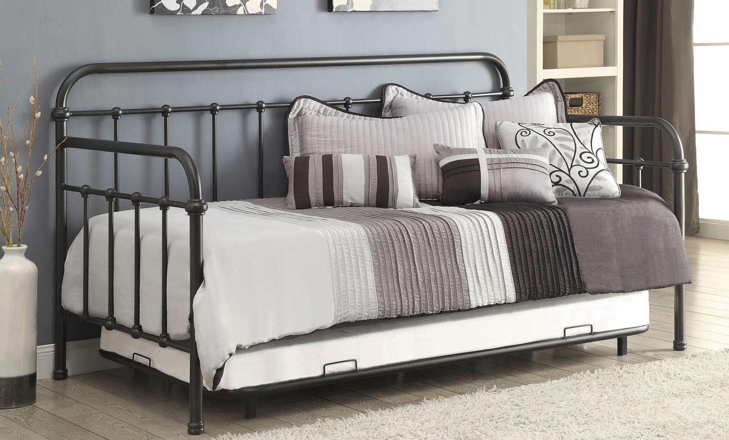 Coaster 300398 Daybed with trundle - Dark Bronze
