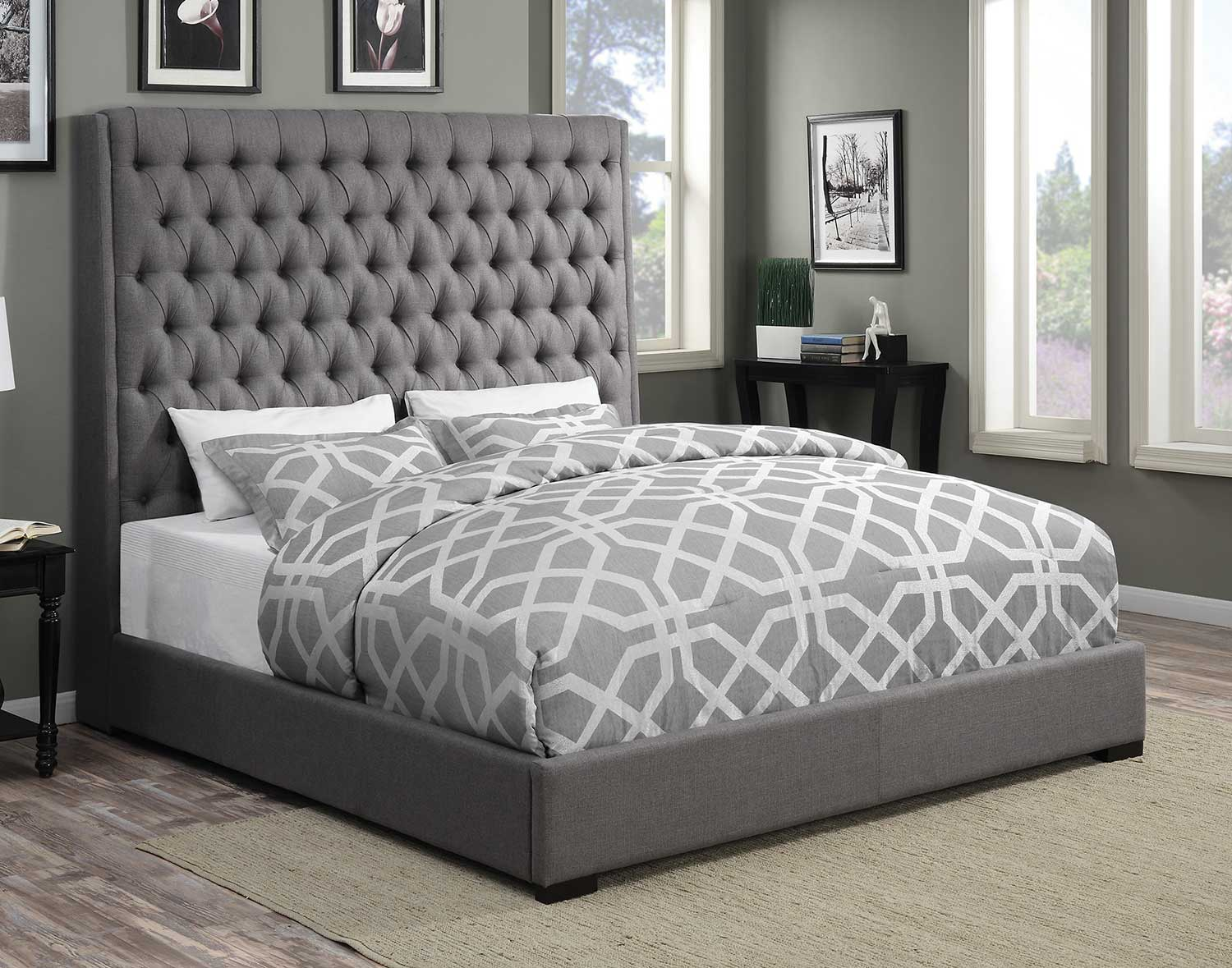 Coaster Camille Bed - Grey Fabric