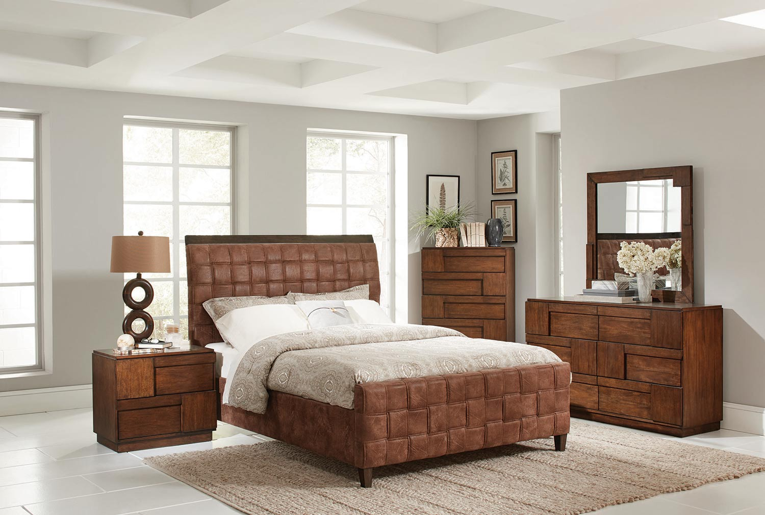 Coaster Gallagher Bedroom Collection - Golden Brown - Coated Brown Microfiber