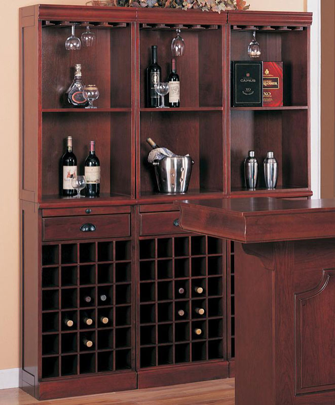 Coaster Lambert Wine Wall Unit Set of 3