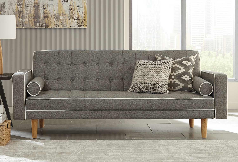 Coaster Luske Sofa Bed - Grey/White