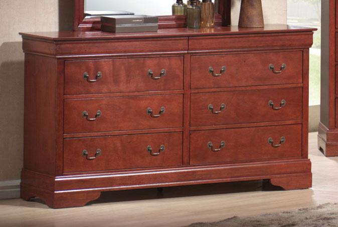 Coaster Louis Philippe Warm Cherry Dresser