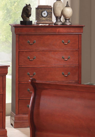 Coaster Louis Philippe Warm Cherry Chest
