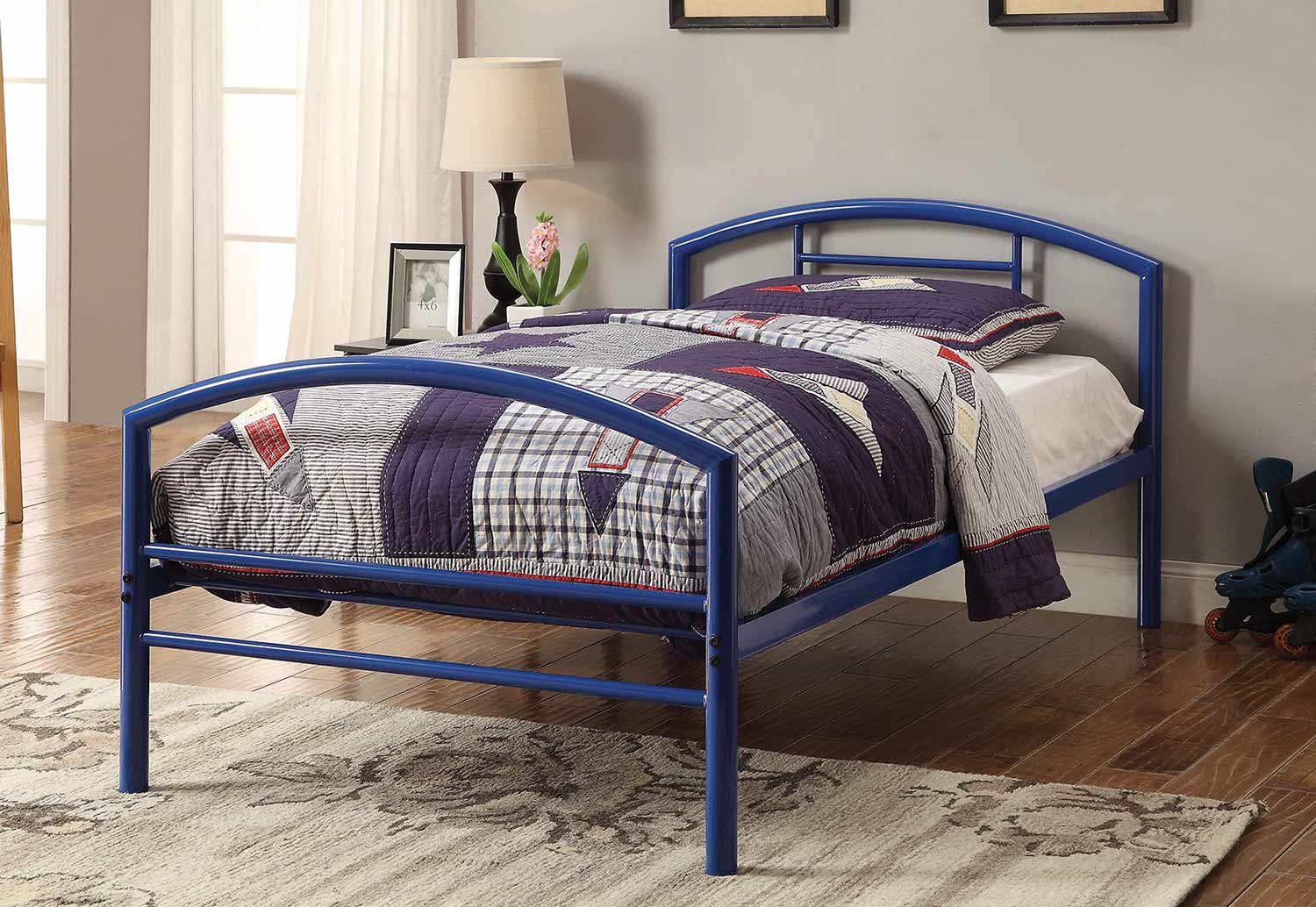 Coaster Baines Twin Size Bed - Blue