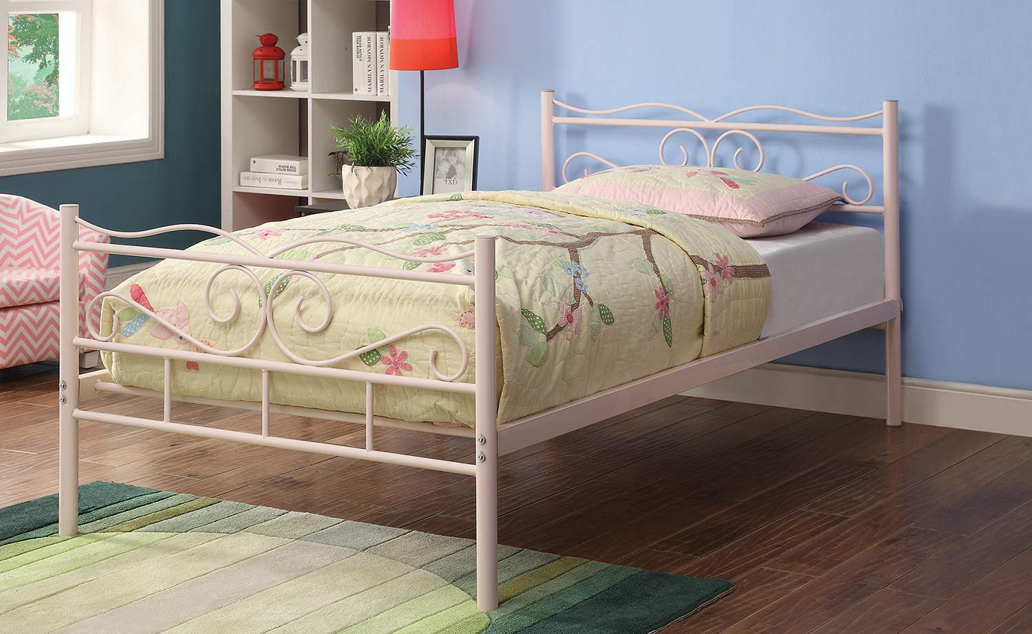 Coaster Bailey Twin Size Bed - Pink