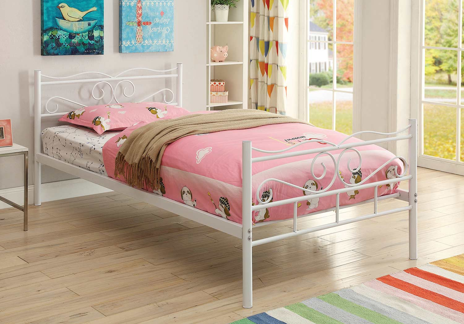 Coaster Bailey Twin Size Bed - White