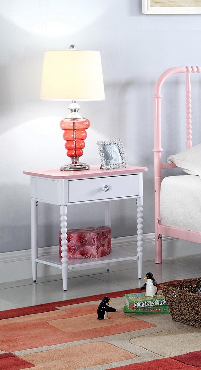 Coaster Loyola Nightstand - Pink