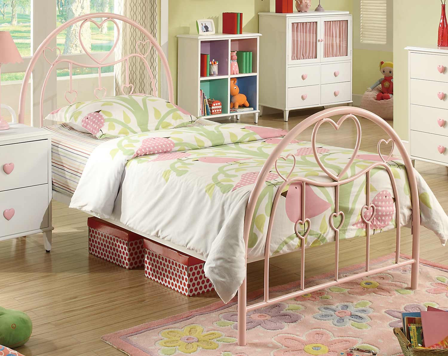 Coaster Juliette Twin Bed Pink T at Homelement