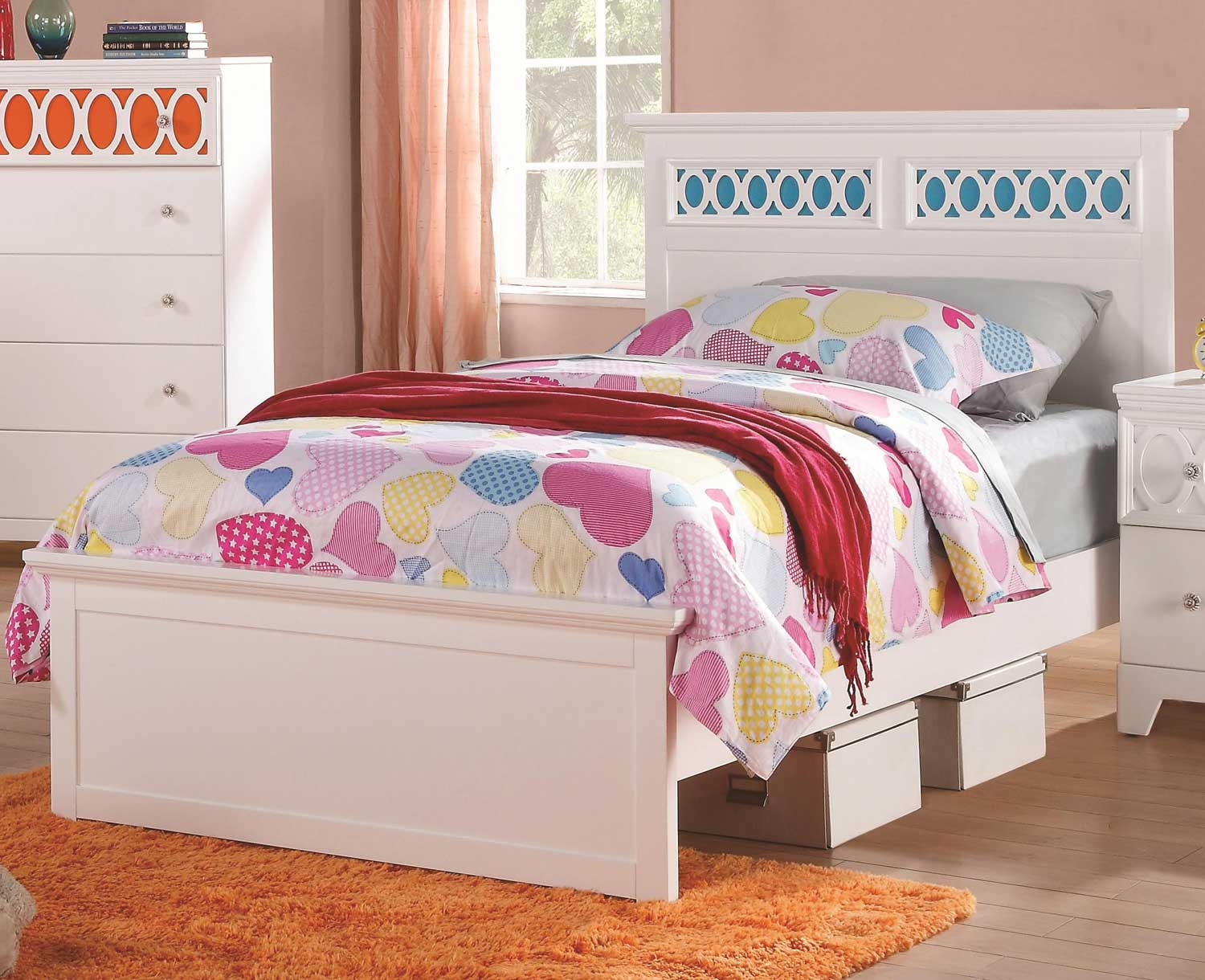 Coaster Madeline Bed - White