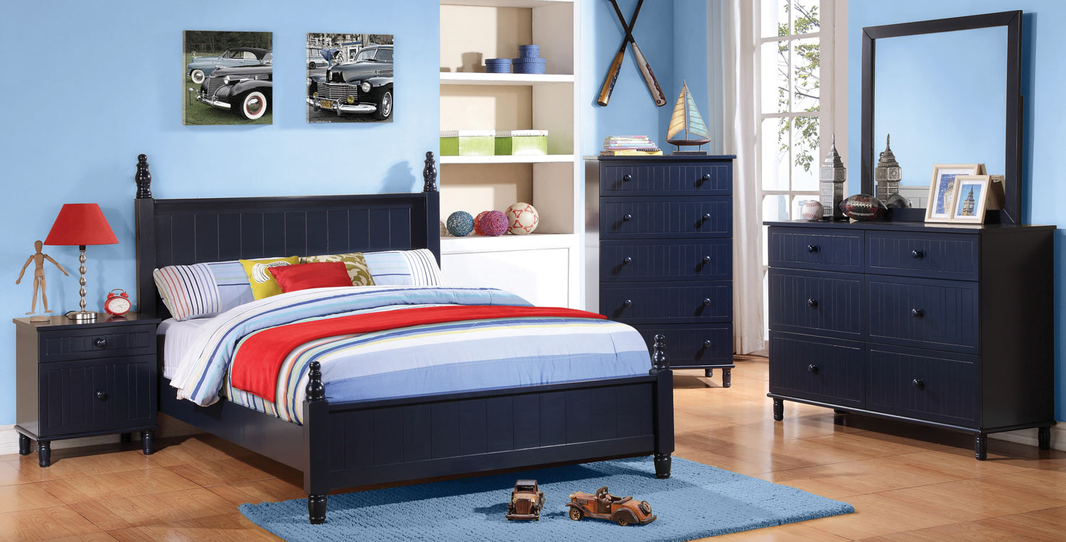 coaster bedroom sets coaster zachary bedroom set navy blue 400691 bed set at 11149