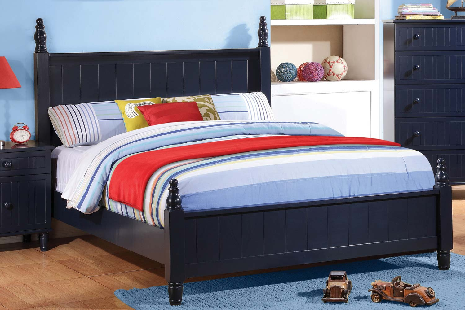 Coaster Zachary Bed - Navy Blue
