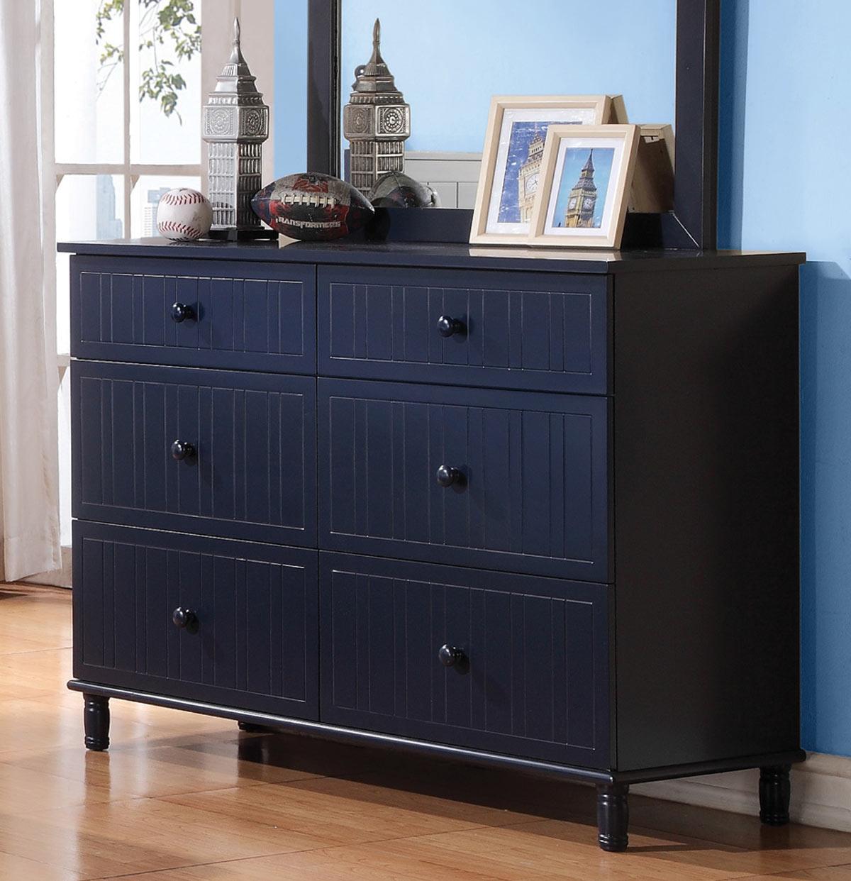 Coaster Zachary Dresser - Navy Blue