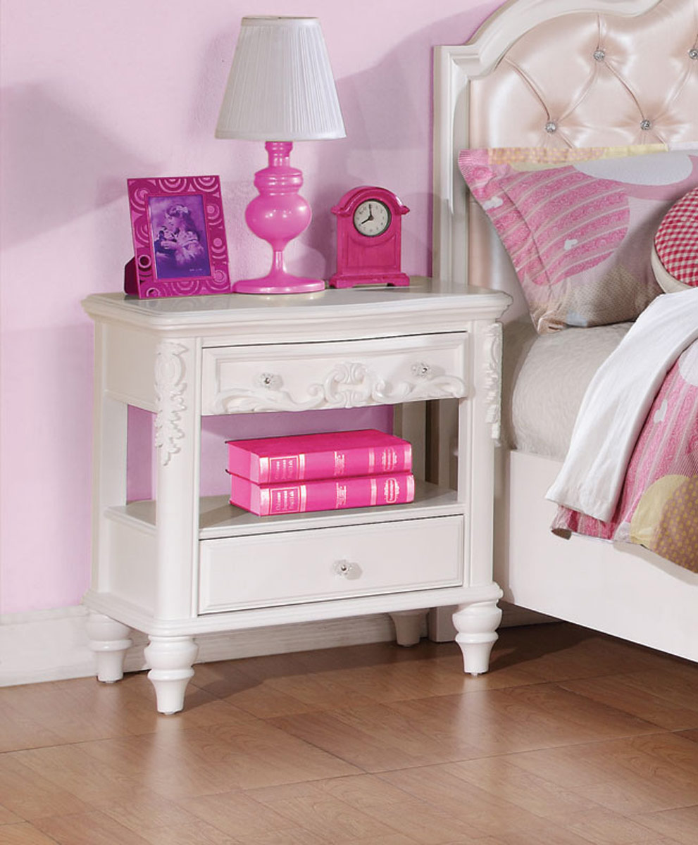 Coaster Caroline Night stand - White