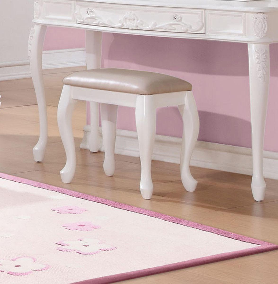 Coaster Caroline Vanity Stool - White