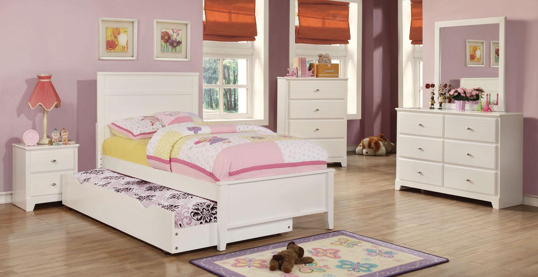 Coaster ashton platform bedroom collection white 400761 bed set at for Coaster bedroom furniture reviews