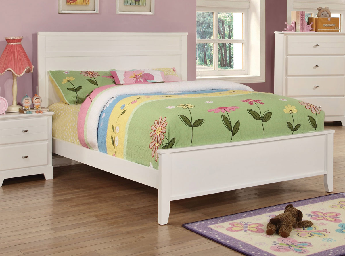 Coaster Ashton Platform Bed - White