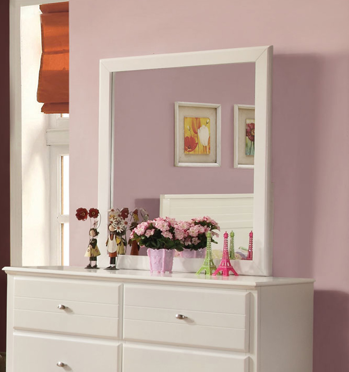 Coaster Ashton Mirror - White