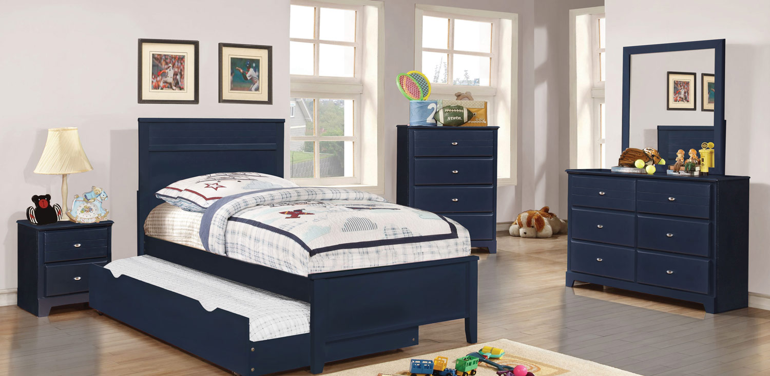 Coaster Ashton Platform Bedroom Collection - Navy